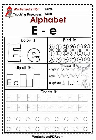 Free Printable Letter E Worksheets for Preschoolers Printable Letter E E Activities – Free Printables Worksheets Pdf