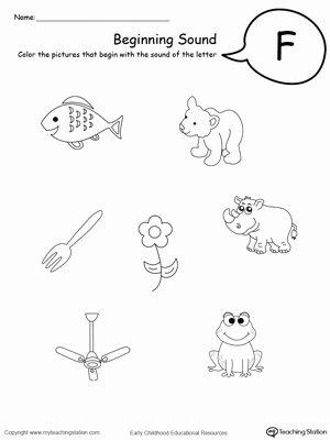 Free Printable Letter F Worksheets for Preschoolers Fresh Beginning sound Of the Letter F