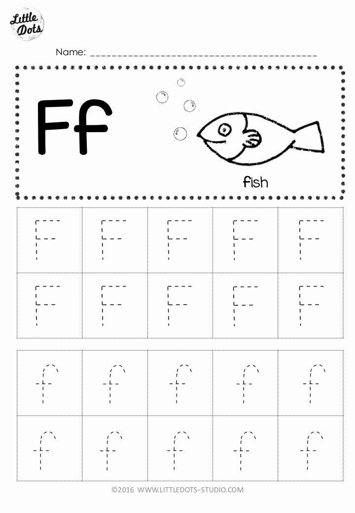 Free Printable Letter F Worksheets for Preschoolers Inspirational Free Letter F Tracing Worksheets