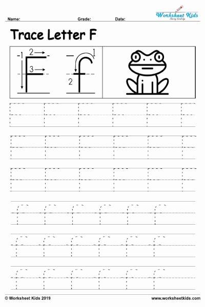 Free Printable Letter F Worksheets for Preschoolers New Letter F Alphabet Tracing Worksheets Free Printable Pdf