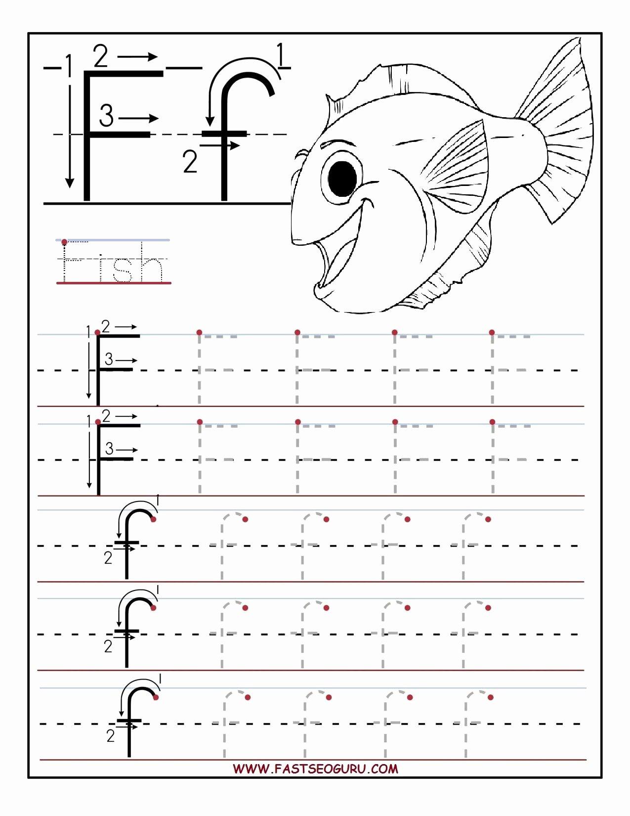 Free Printable Letter F Worksheets for Preschoolers New Printable Letter F Tracing Worksheets for Preschool
