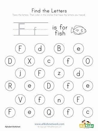 Free Printable Letter F Worksheets for Preschoolers top Find the Letter F Worksheet
