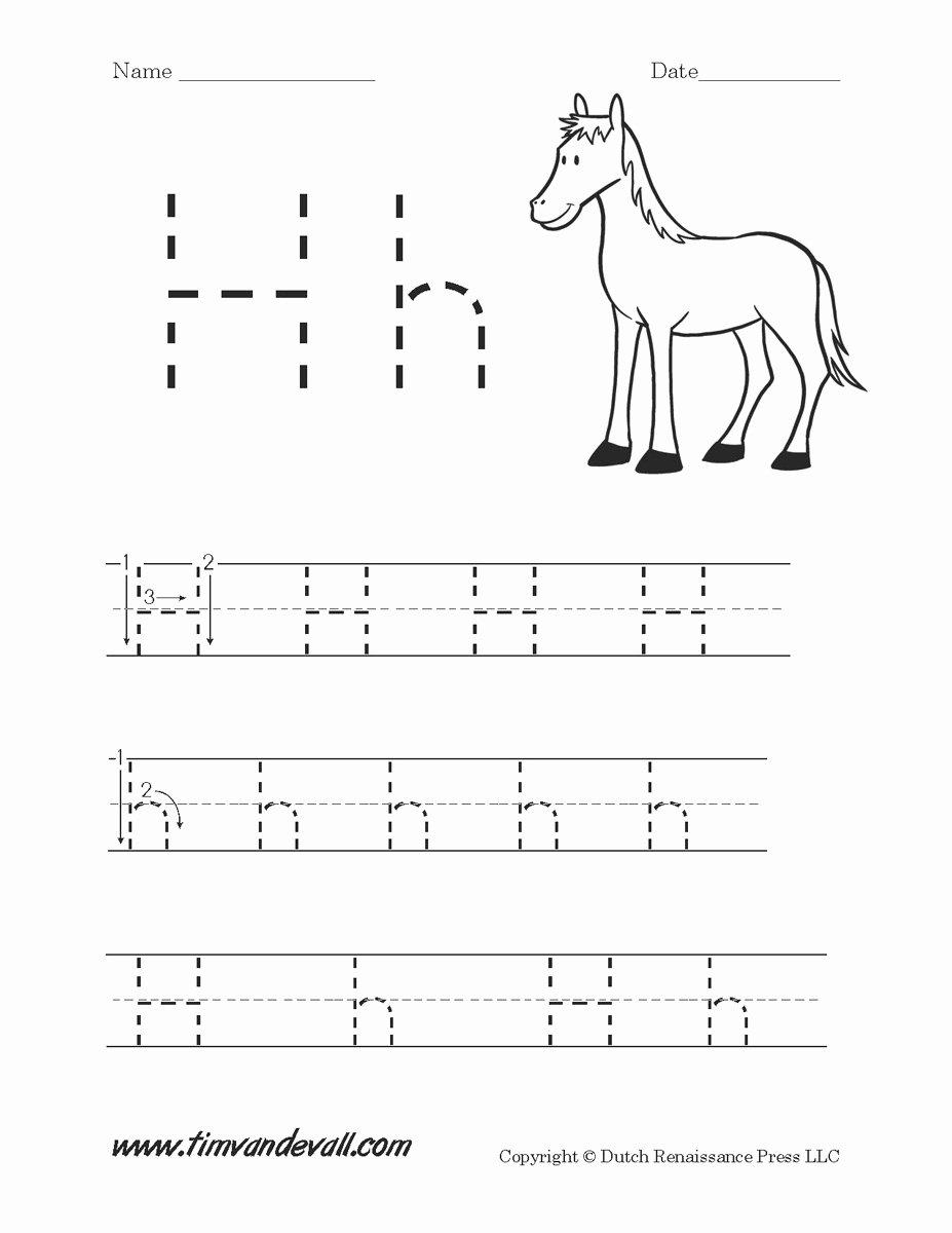 Free Printable Letter H Worksheets for Preschoolers top Letter H Worksheets