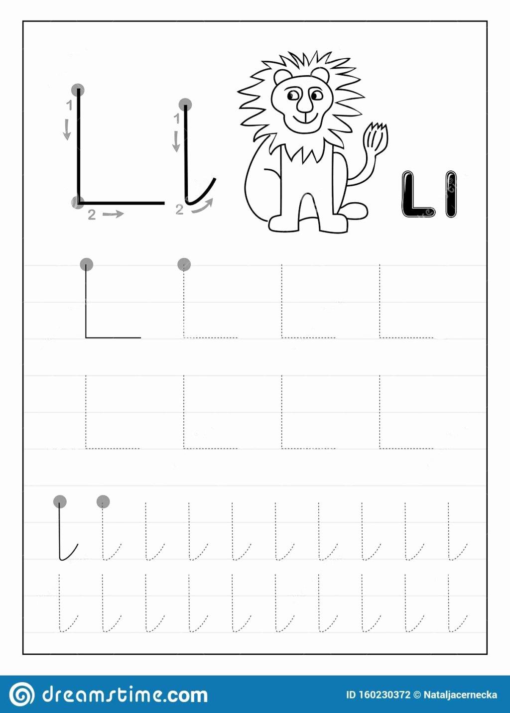 Free Printable Letter L Worksheets for Preschoolers Best Of Worksheet Tracing Alphabet Letter L Black and White