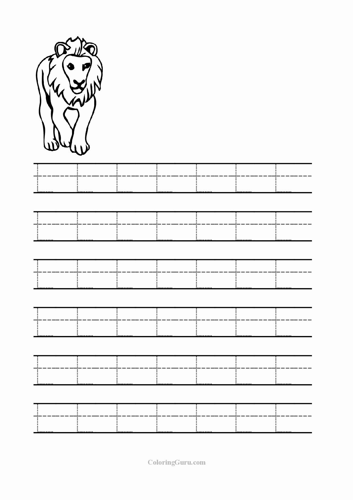 Free Printable Letter L Worksheets for Preschoolers Fresh Free Printable Tracing Letter L Worksheets for Preschool