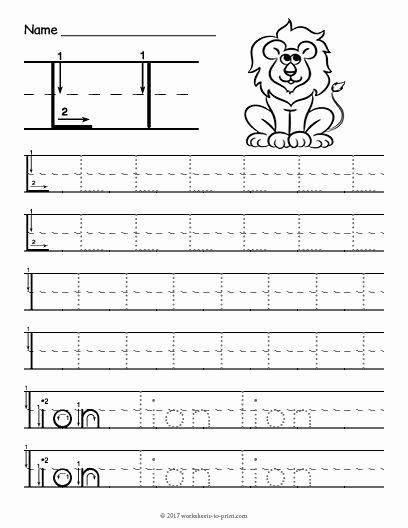 Free Printable Letter L Worksheets for Preschoolers Lovely Free Printable Tracing Letter L Worksheet