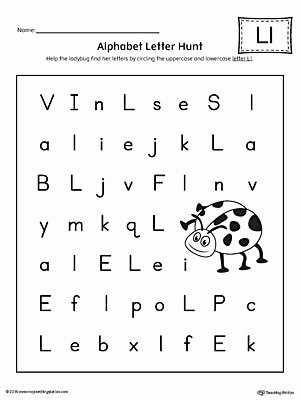 Free Printable Letter L Worksheets for Preschoolers Printable Alphabet Letter Hunt Letter L Worksheet