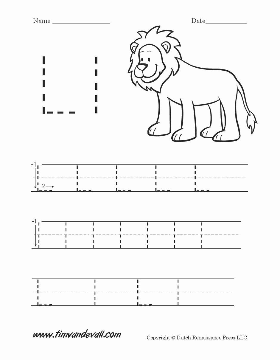 Free Printable Letter L Worksheets for Preschoolers Printable Worksheet Letter L Preschool