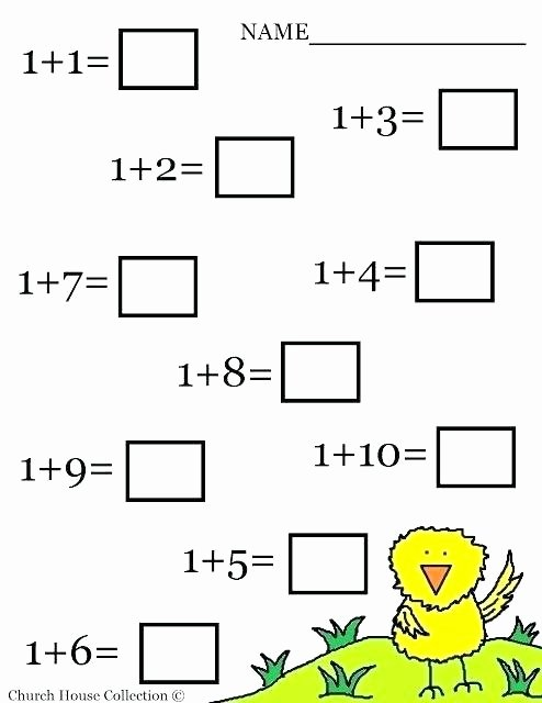 Free Printable Maths Worksheets for Preschoolers New Free Math Worksheets for Kinder Free Math Addition