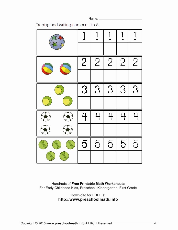 Free Printable Maths Worksheets for Preschoolers Printable Worksheet Math Worksheets for Kindergarten and