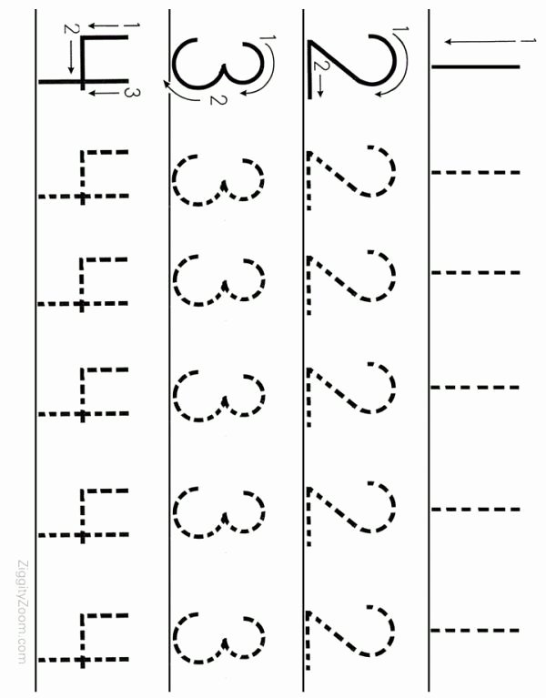 Free Printable Number Tracing Worksheets for Preschoolers Printable 10 Preschool Math Worksheets Number Recognition Flashcards