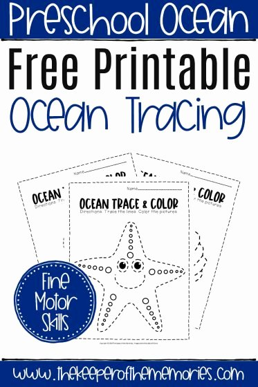 Free Printable Ocean Worksheets for Preschoolers Free Free Printable Ocean Tracing Worksheets the Keeper Of the