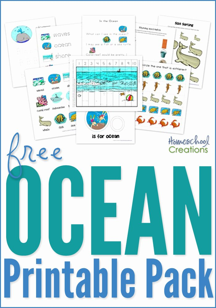Free Printable Ocean Worksheets for Preschoolers Free Ocean Preschool Pack Free Preschool Printables