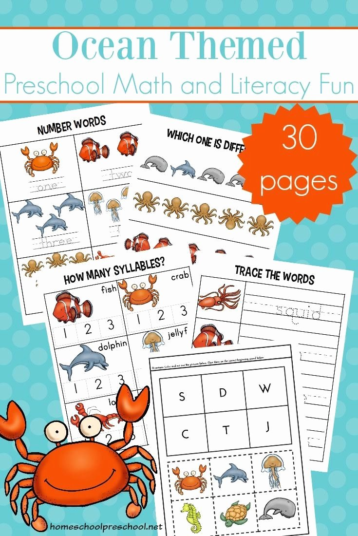Free Printable Ocean Worksheets for Preschoolers Inspirational Free Printable Preschool Ocean Worksheets