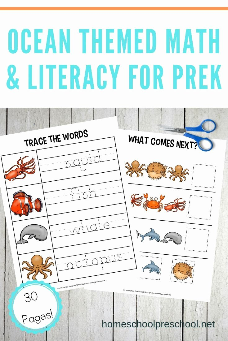 Free Printable Ocean Worksheets for Preschoolers Kids Free Printable Preschool Ocean Worksheets