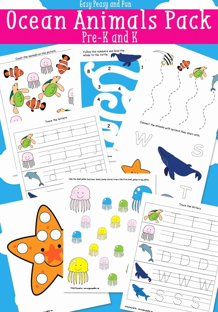 Free Printable Ocean Worksheets for Preschoolers Kids Ocean Animals Printables for Kids Easy Peasy and Fun
