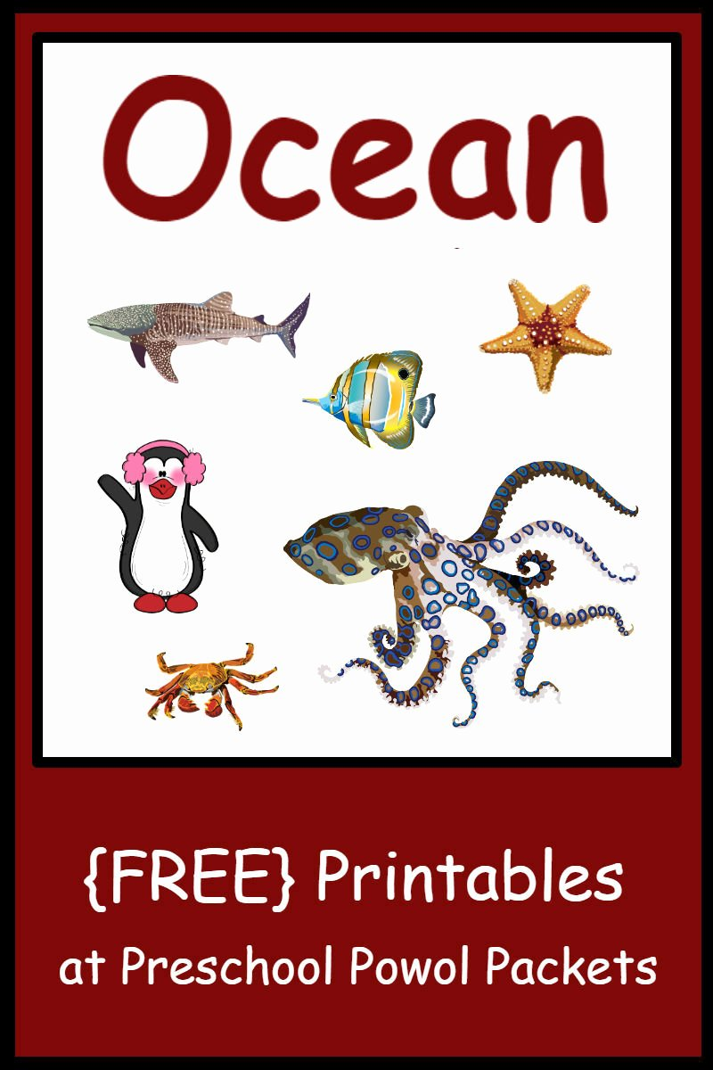 Free Printable Ocean Worksheets for Preschoolers New Free Preschool Ocean themed Printable Activities