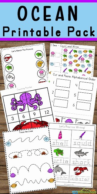 Free Printable Ocean Worksheets for Preschoolers top Free Ocean Worksheets for Pre K Kindergarten Grade 1 & 2
