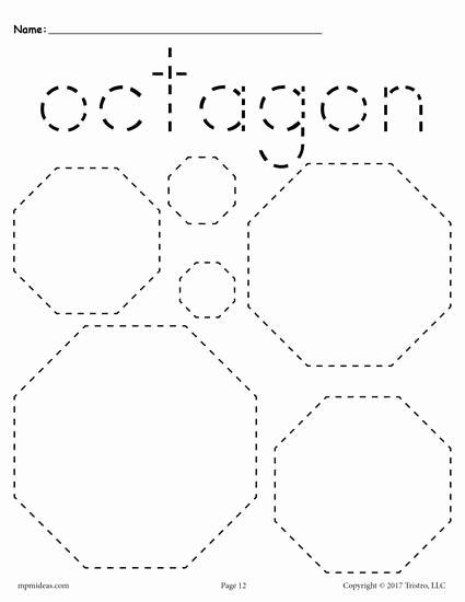 Free Printable Octagon Worksheets for Preschoolers Best Of 12 Shapes Tracing Worksheets