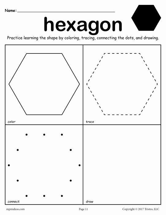 Free Printable Octagon Worksheets for Preschoolers Free 12 Shapes Worksheets Color Trace Connect & Draw