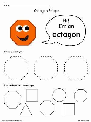 Free Printable Octagon Worksheets for Preschoolers Kids Preschool and Kindergarten Worksheets
