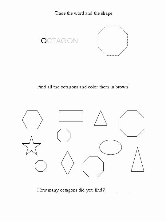 Free Printable Octagon Worksheets for Preschoolers Lovely Free Octagon Worksheet
