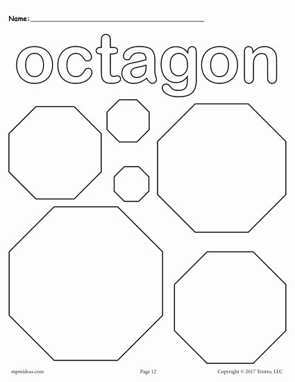 Free Printable Octagon Worksheets for Preschoolers New 12 Shapes Coloring Pages
