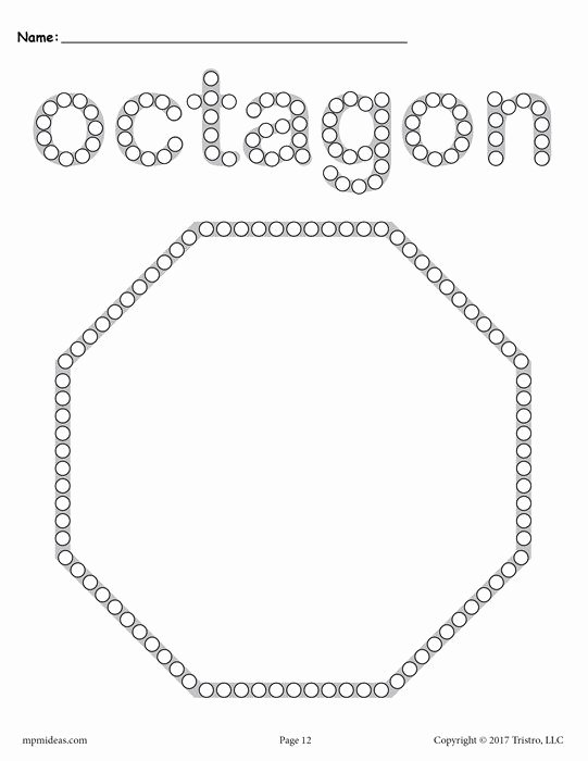 Free Printable Octagon Worksheets for Preschoolers Printable 12 Shapes Q Tip Painting Printables