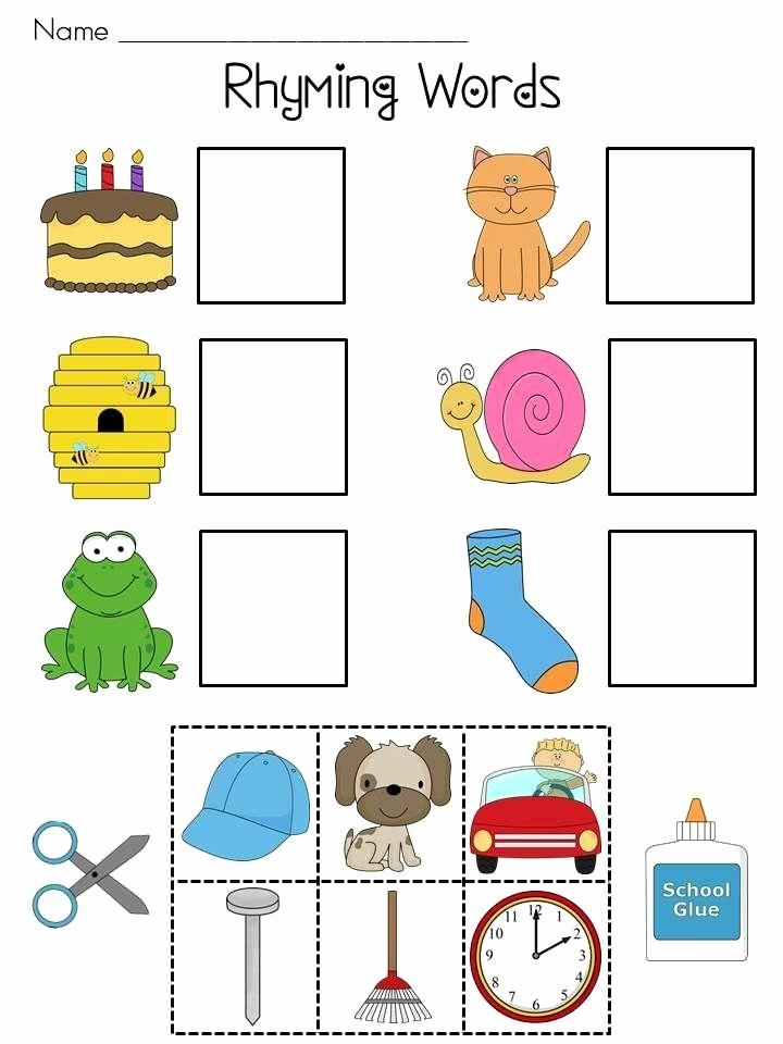 Free Printable Rhyming Worksheets for Preschoolers Inspirational Work Sheet for Kindergarten the Word with and Yahoo