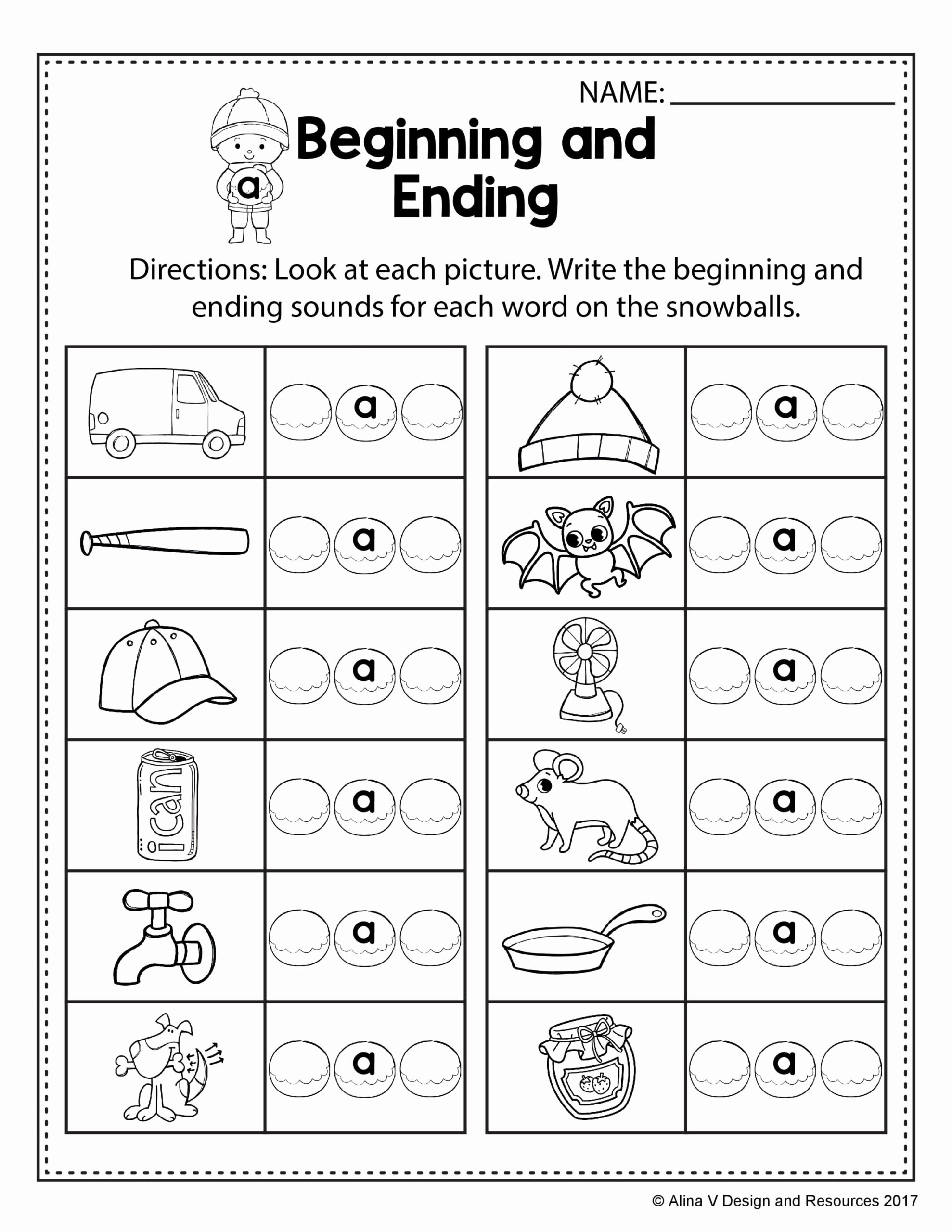 Free Printable Rhyming Worksheets for Preschoolers Printable Free Winter Literacy Worksheet for Kindergarten No Prep