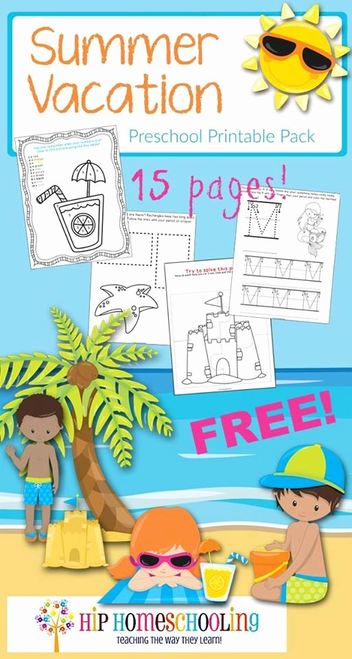 Free Printable Summer Worksheets for Preschoolers Inspirational Fun Summer Worksheets for Preschoolers