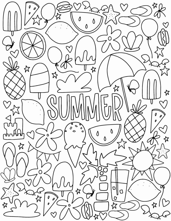 Free Printable Summer Worksheets for Preschoolers Inspirational Worksheet Coloring June Best for Kids Summer Fun