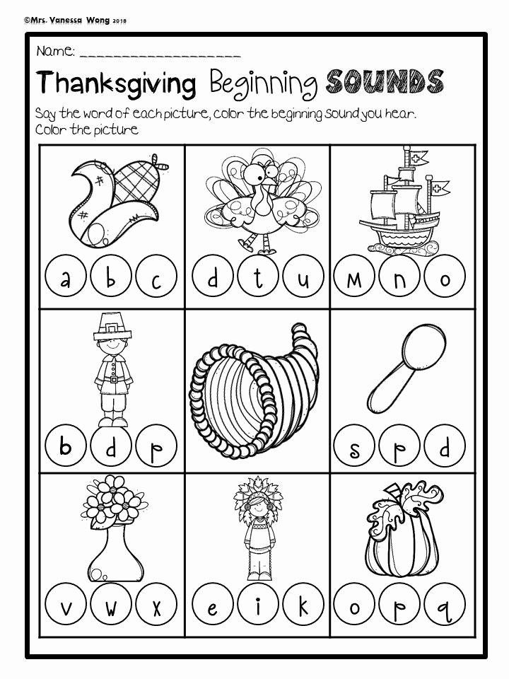 Free Printable Thanksgiving Worksheets for Preschoolers Best Of Thanksgiving Activities for Kindergarten Math and Literacy