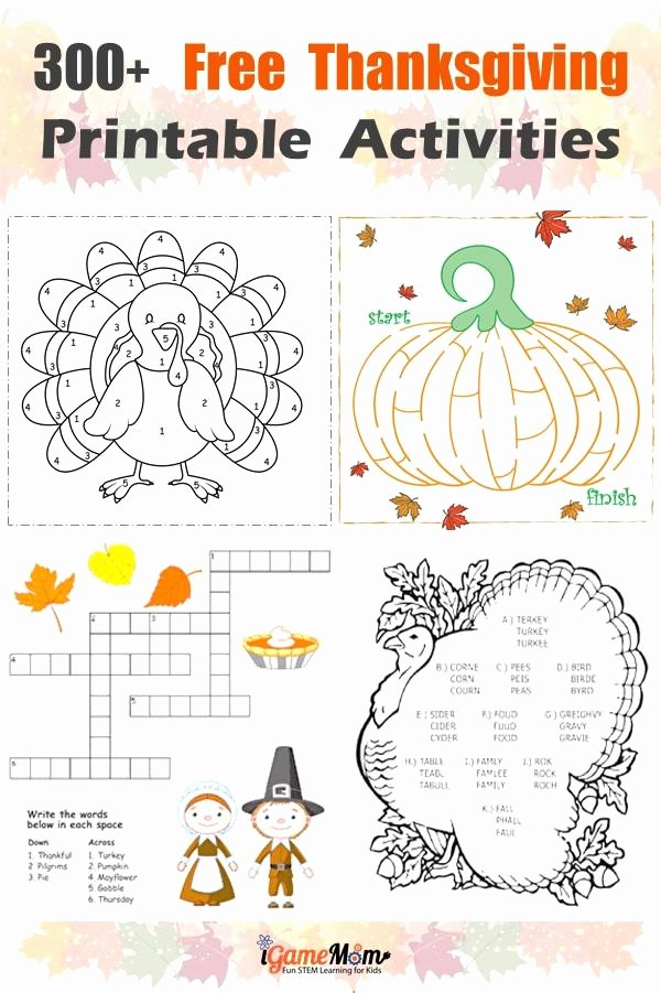 Free Printable Thanksgiving Worksheets for Preschoolers Free Free Thanksgiving Printables for Learning Worksheets