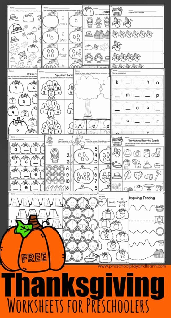 Free Printable Thanksgiving Worksheets for Preschoolers Inspirational Thanksgiving Worksheets for Preschoolers