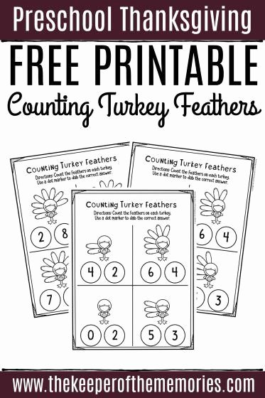 Free Printable Thanksgiving Worksheets for Preschoolers Lovely Free Printable Counting Thanksgiving Preschool Worksheets
