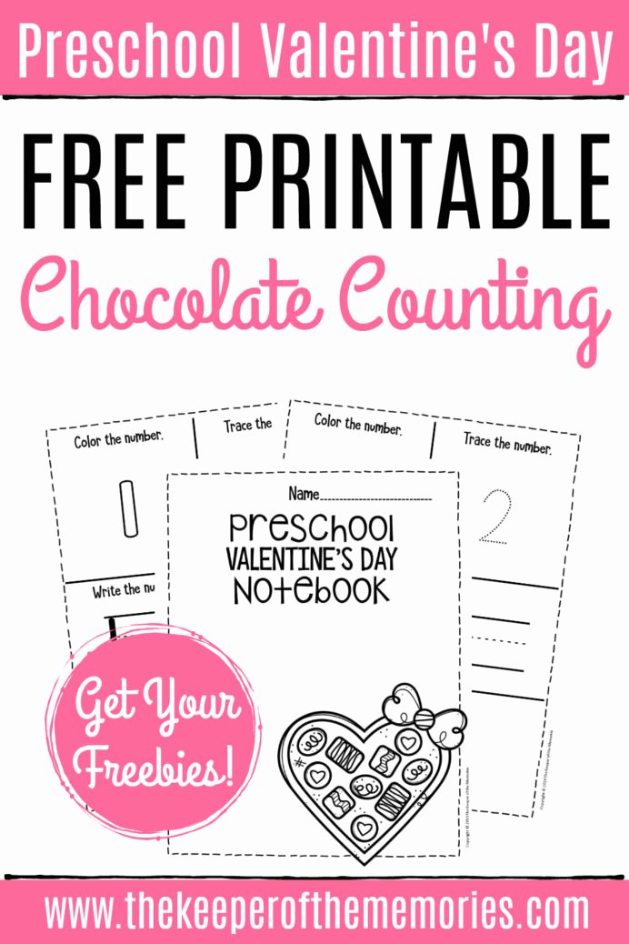 Free Printable Valentine Worksheets for Preschoolers New Free Printable Numbers Valentine Preschool Worksheets