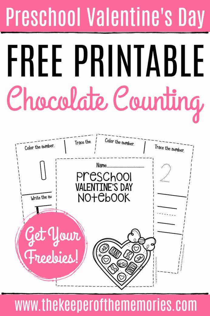 Free Printable Valentines Worksheets for Preschoolers Fresh Free Printable Numbers Valentine Preschool Worksheets