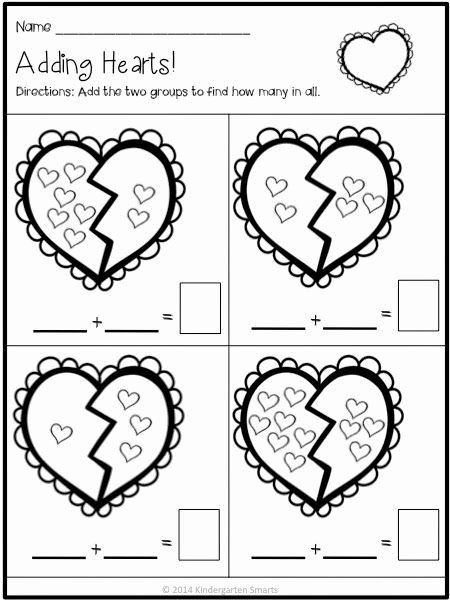 Free Printable Valentines Worksheets for Preschoolers New Valentine S Day Math and Literacy Centers with Printable