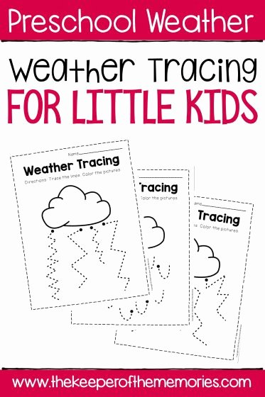 Free Printable Weather Worksheets for Preschoolers Free Free Printable Storm Clouds Tracing Weather Preschool