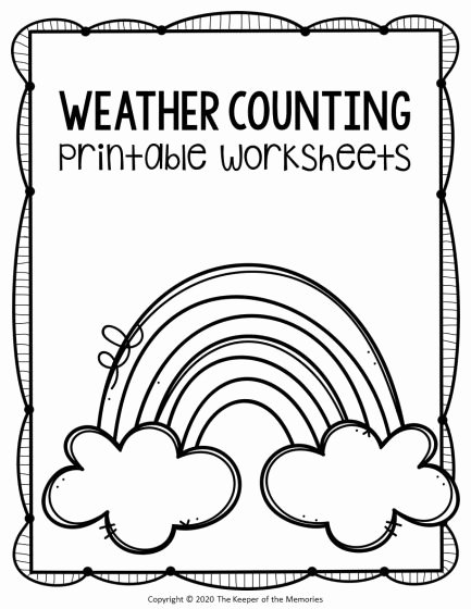 Free Printable Weather Worksheets for Preschoolers Fresh Free Printable Counting Preschool Weather Worksheets the