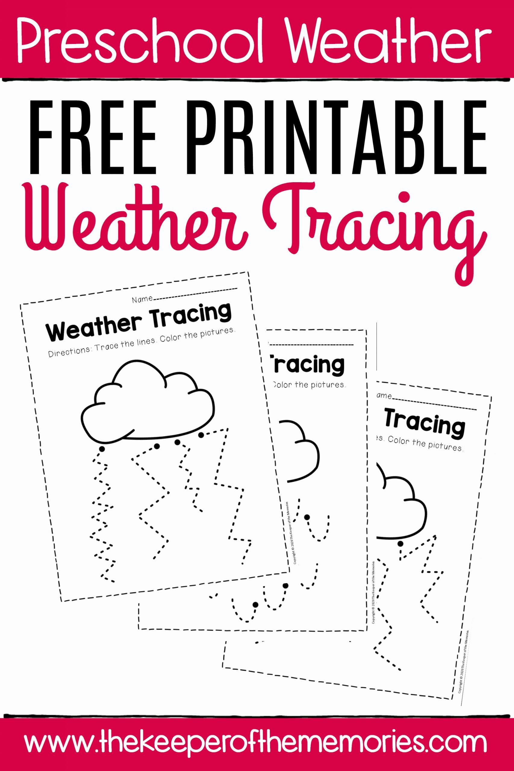 Free Printable Weather Worksheets for Preschoolers Ideas Free Printable Storm Clouds Tracing Weather Preschool