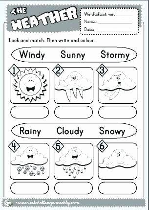Free Printable Weather Worksheets for Preschoolers Lovely the Weather Worksheet 4 Version and Seasons Worksheets for