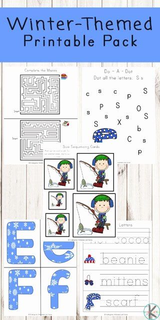 Free Printable Winter Worksheets for Preschoolers Printable Free Winter Printable Pack
