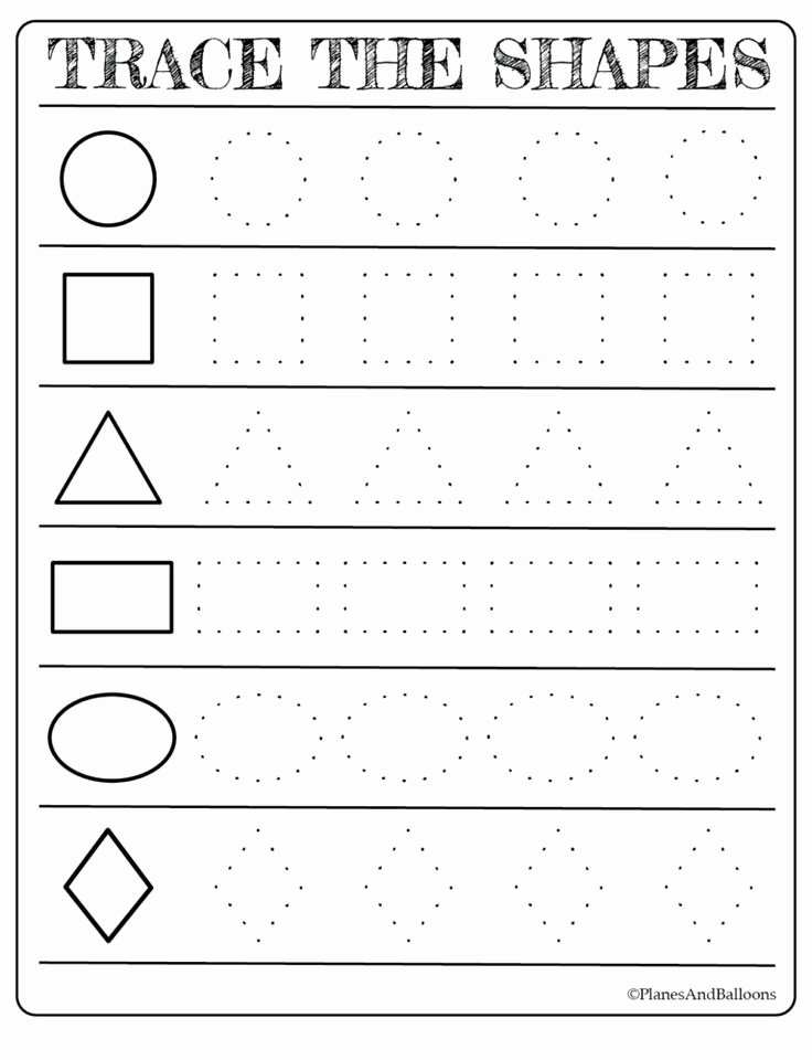 Free Printable Worksheets for Preschoolers New Free Printable Shapes Worksheets for toddlers and