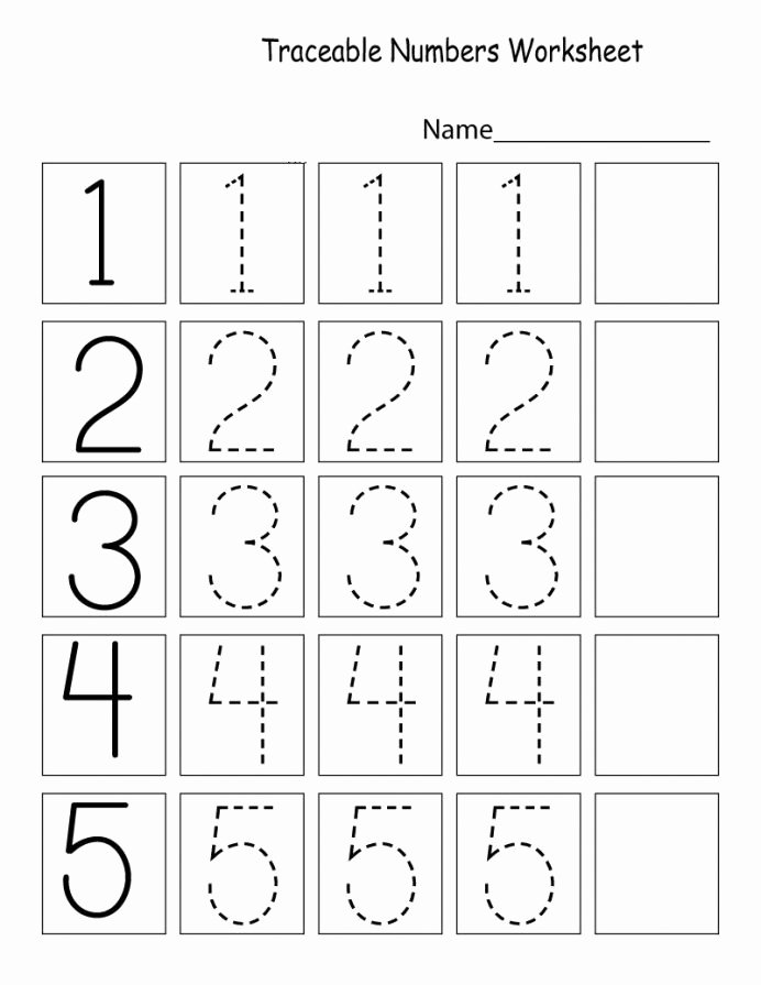 Free Printable Worksheets for Preschoolers Numbers New Letter Tracing Worksheets Preschool Printables Coloring Cut