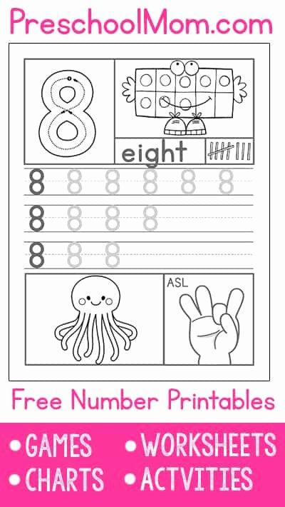 Free Printable Worksheets for Preschoolers On Numbers Lovely Preschool Number Worksheets Preschool Mom
