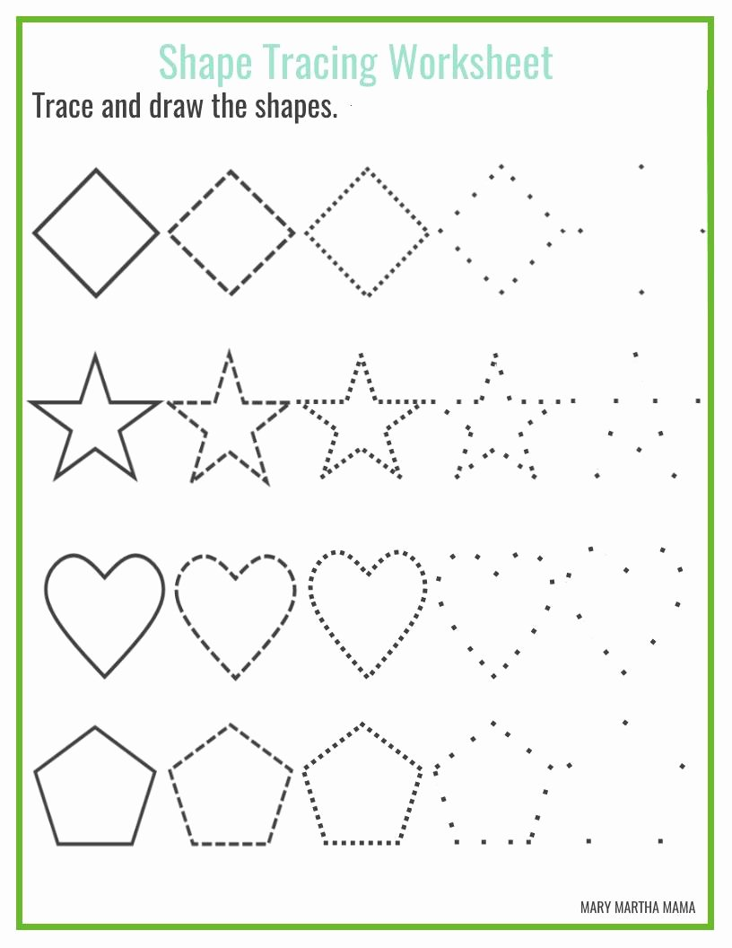 Free Printable Worksheets for Preschoolers Shapes Free Shapes Worksheets for Preschool Free Printables Mary Martha