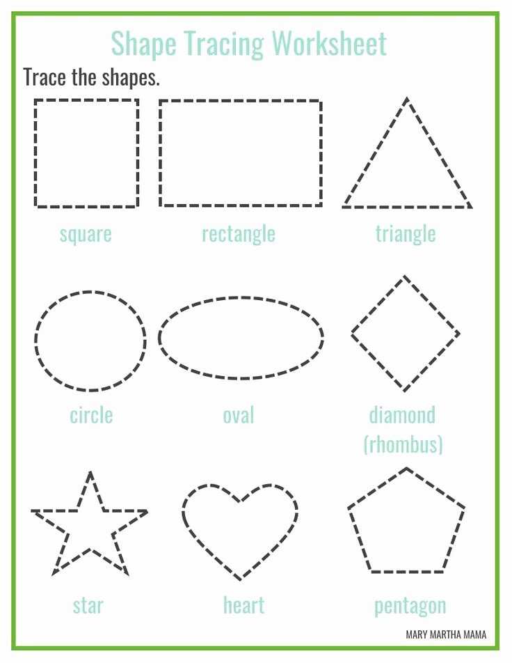 Free Printable Worksheets for Preschoolers Shapes Kids Free Printable Shape Tracing Worksheets