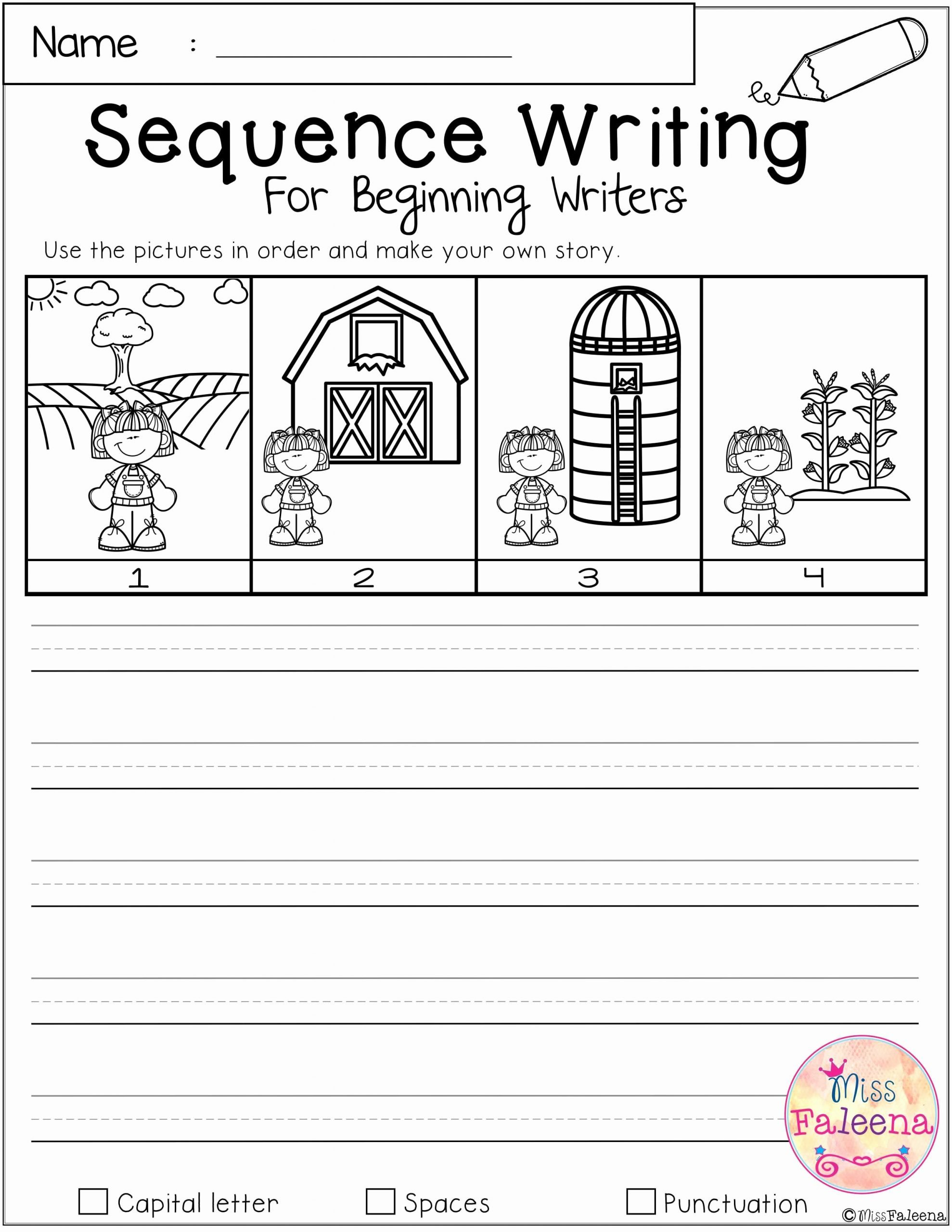 Free Sequencing Worksheets for Preschoolers Fresh Free Sequence Writing for Beginning Writers